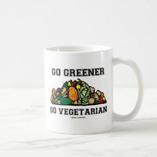 Vaya más verde van vegetariano (el decir del taza básica blanca