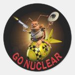 Vaya nuclear pegatina redonda