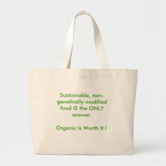 Vaya orgánico bolsa tela grande