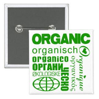 ¡Vaya orgánico! Botón multilingüe Pins