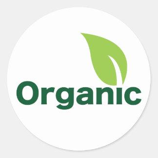 ¡Vaya orgánico! Crezca orgánico Pegatinas Redondas