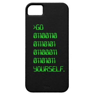 Vaya (palabra de maldición binaria) usted mismo iPhone 5 funda