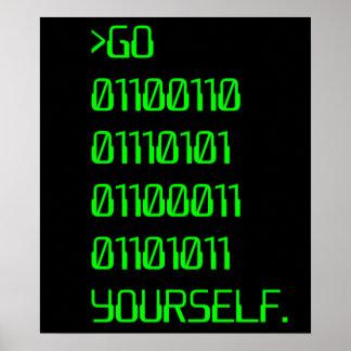 Vaya (palabra de maldición binaria) usted mismo póster