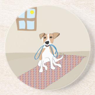 Vaya para un perro del paseo - pata de la atracció posavasos diseño