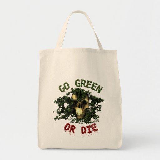 Vaya verde o muera tote Bage Bolsa Tela Para La Compra