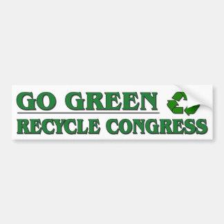 Vaya verde - recicle al congreso pegatina para auto