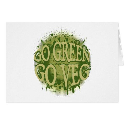 Vaya verde, vaya Veg Tarjeta De Felicitación