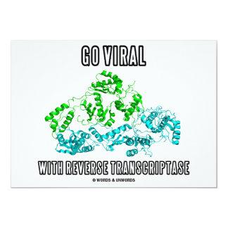 """Vaya viral con Transcriptase reverso Invitación 5"""" X 7"""""""