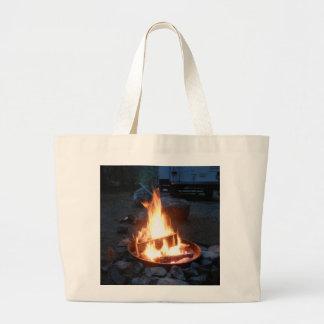 Vayamos a acampar, bolso de compras bolsa tela grande