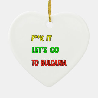 Vayamos a Bulgaria Adorno De Cerámica En Forma De Corazón