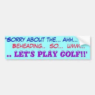 Vayamos a golfing pegatina para auto
