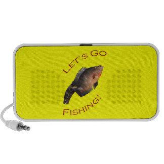 Vayamos a pescar portátil altavoces