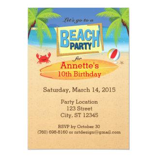 Vayamos a una invitación del fiesta de la playa
