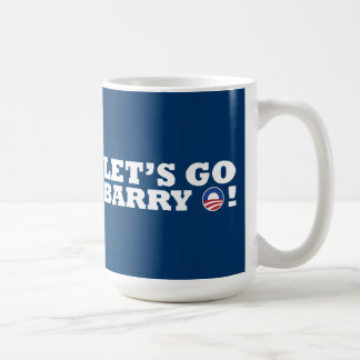 ¡Vayamos Barry O! Obama Tazas De Café