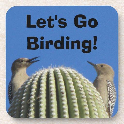 ¡Vayamos Birding! Pares de la pulsación de corrien Posavasos De Bebida