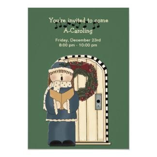 Vayamos Caroling - invitación del día de fiesta