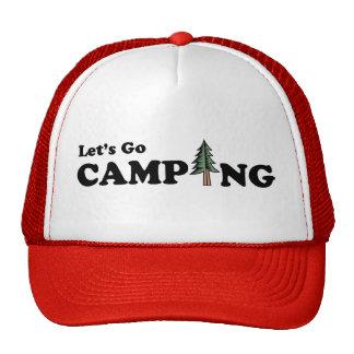 Vayamos casquillo del árbol de pino que acampa gorras