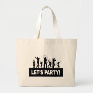 Vayamos de fiesta bolsa tela grande