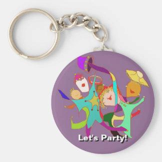 ¡Vayamos de fiesta! ¡Carnaval! ¡Baile en las calle Llaveros