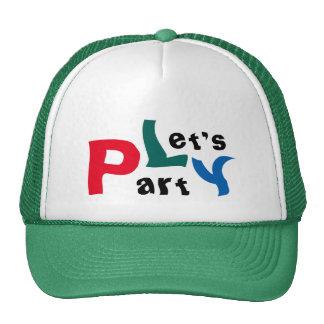 Vayamos de fiesta el casquillo verde colorido de gorros