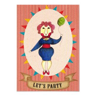 Vayamos de fiesta la tarjeta de la invitación de