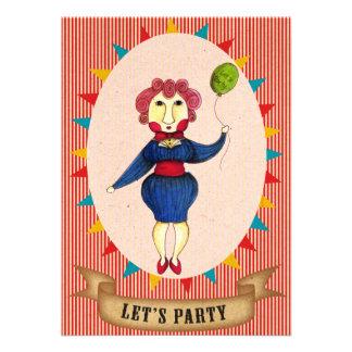 Vayamos de fiesta la tarjeta de la invitación de Q