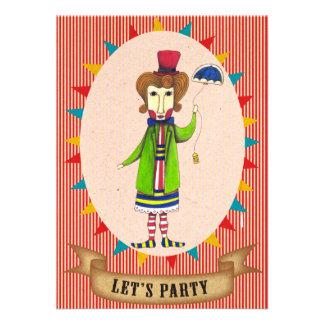 Vayamos de fiesta la tarjeta enojada de la invitac