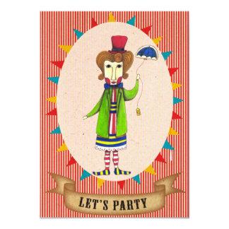 """Vayamos de fiesta la tarjeta enojada de la invitación 4.5"""" x 6.25"""""""