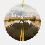 Vayamos en un viaje por carretera ornamentos de reyes