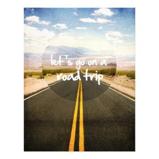 Vayamos en un viaje por carretera tarjetones