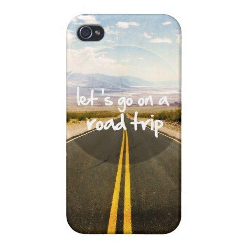 Vayamos en un viaje por carretera iPhone 4 carcasas