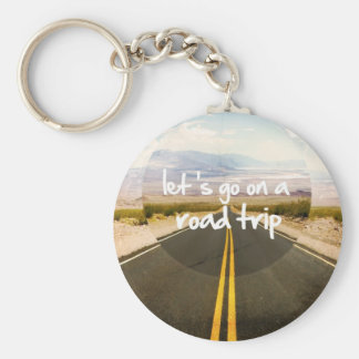 Vayamos en un viaje por carretera llavero redondo tipo pin