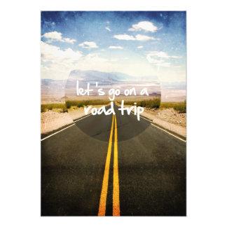 Vayamos en un viaje por carretera impresión fotográfica