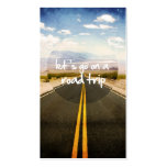 Vayamos en un viaje por carretera plantilla de tarjeta de negocio