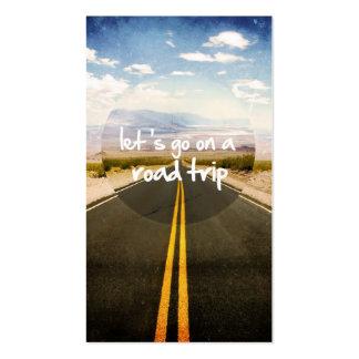 Vayamos en un viaje por carretera tarjetas de visita