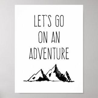 Vayamos en una aventura póster