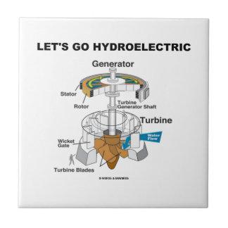 Vayamos hidroeléctricos (la turbina del generador) azulejos