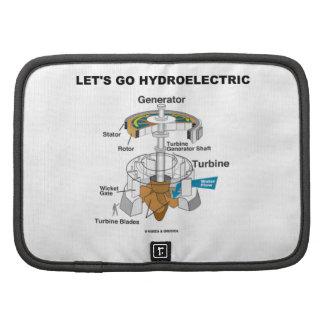Vayamos hidroeléctricos (la turbina del generador) planificadores