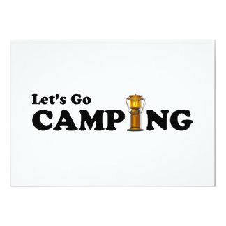 Vayamos invitación de la linterna que acampa