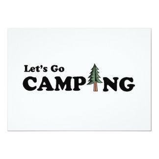 Vayamos invitación del árbol de pino que acampa