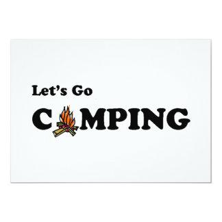 Vayamos invitación del fuego del campo que acampa