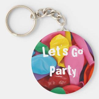 vayamos los globos coloreados fiesta llavero