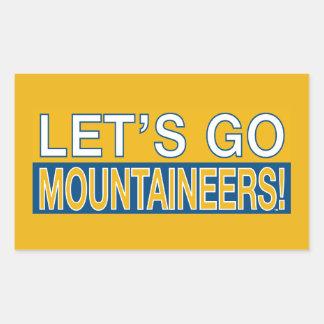 ¡Vayamos los montañeses! Pegatina Rectangular