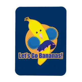 ¡Vayamos los plátanos! Iman Rectangular