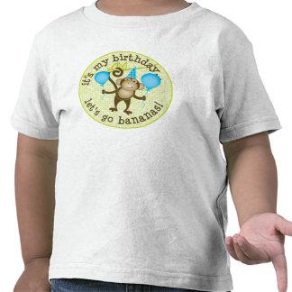 Vayamos mono de los plátanos camisetas