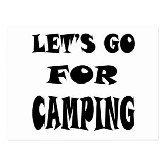 Vayamos para acampar tarjetas postales