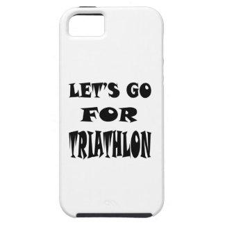 Vayamos para el TRIATHLON. iPhone 5 Case-Mate Coberturas