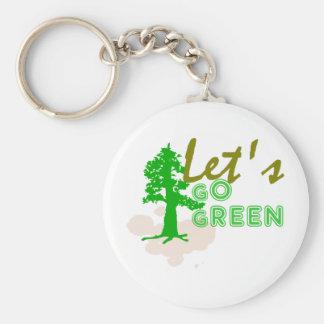 Vayamos verde llavero redondo tipo pin