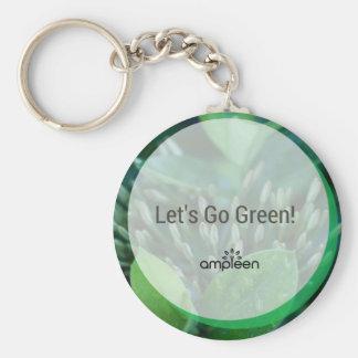 ¡Vayamos verde! Llavero Redondo Tipo Pin