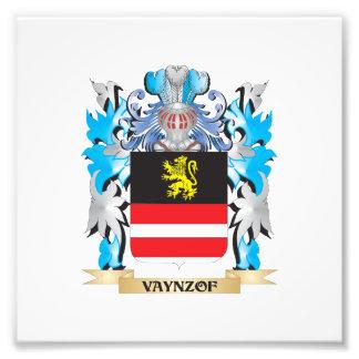 Vaynzof Coat of Arms - Family Crest Art Photo
